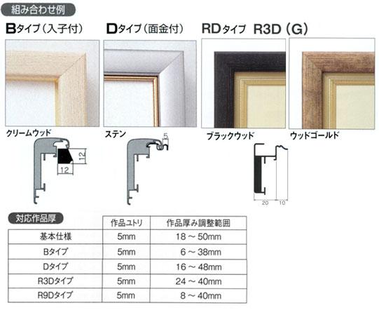 アルフレーム・仮縁CD-22 オプション例