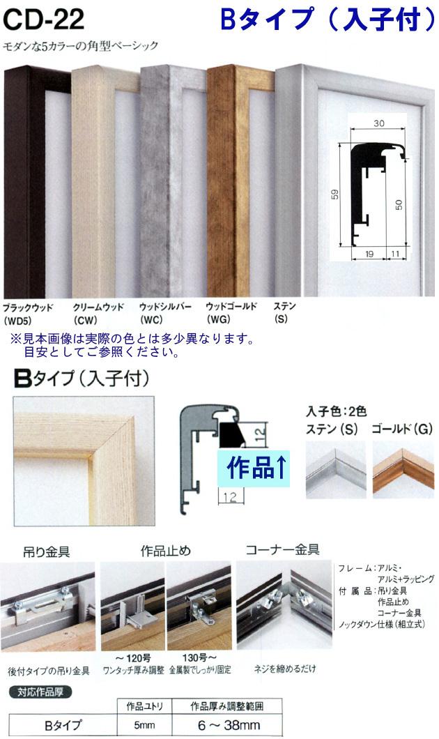 仮縁アルフレーム CD-22 Bタイプ(入子付き) 油絵・日本画・書道向けの出展縁