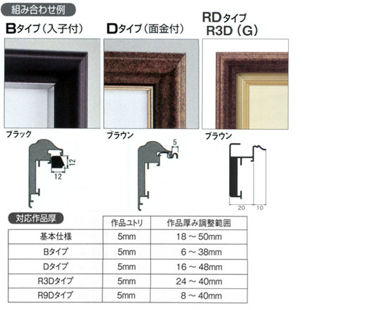 アルフレーム・仮縁CD-77 オプション例